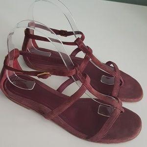 Loro Piana suede thong sandals